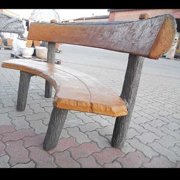 Cypress ronde bank met rugleuning Art.4150