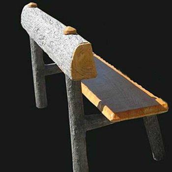 Eiken bankje m. c / rugleuning Art.4160