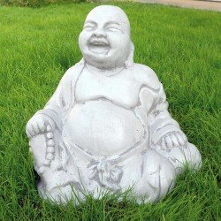 Lachende Boeddha tuinbeeld 38cm