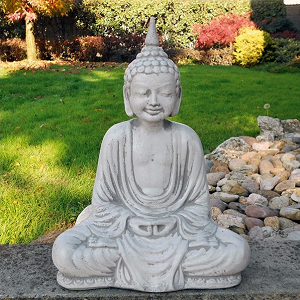 Boeddha tuinbeeld Dhyana zittend 37cm