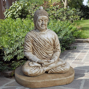 Boeddha tuinbeeld Dhyana zittend 80x60cm