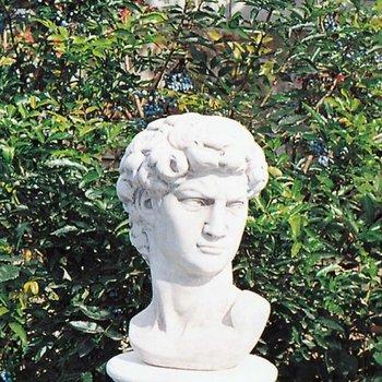 Herfstactie: Buste David 'Antiek wit met glans' - 41cm